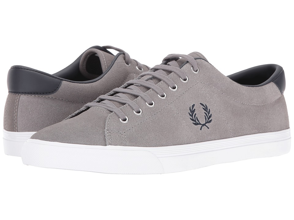 Fred Perry - Underspin Suede (Falcon Grey/Navy) Men's Shoes