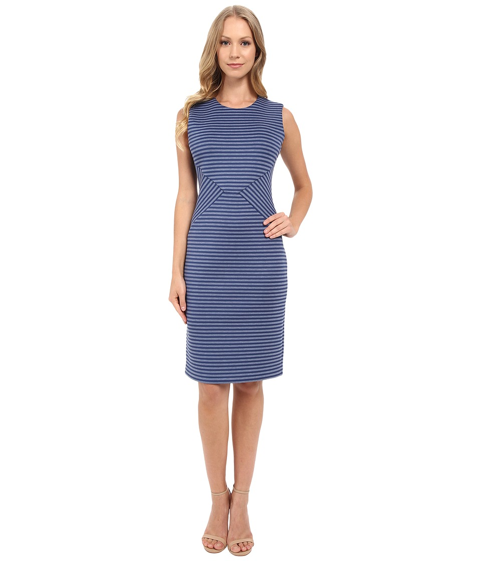 Calvin Klein - Stripe Sheath Dress CD5M1R1W (Atlantis Multi) Women's Dress