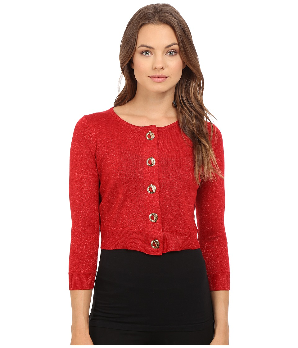 Calvin Klein - Toggle Shrug Dress (Red/Red) Women's Sweater