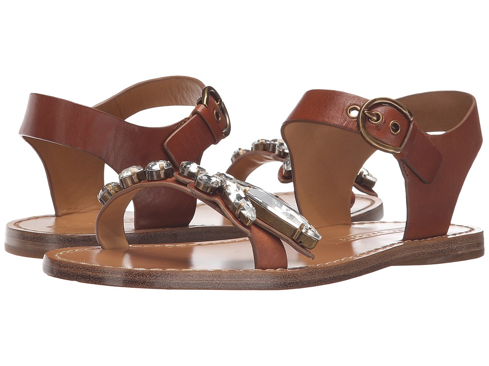 Marc Jacobs - Rivington Embellished Sandal (Luggage) Women's Sandals