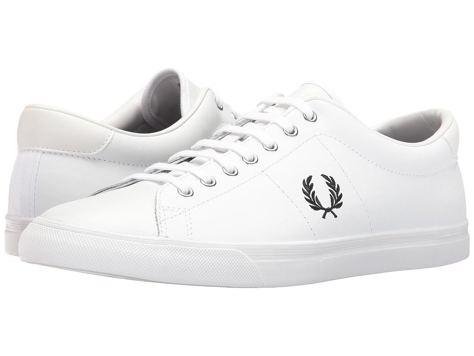 Fred Perry - Underspin Leather (White/Black) Men's Shoes