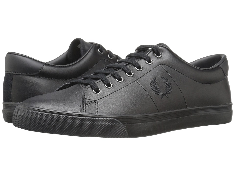 Fred Perry - Underspin Leather (Black/White) Men's Shoes