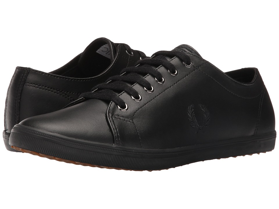 Fred Perry - Kingston Leather (Black/Black) Men's Lace up casual Shoes