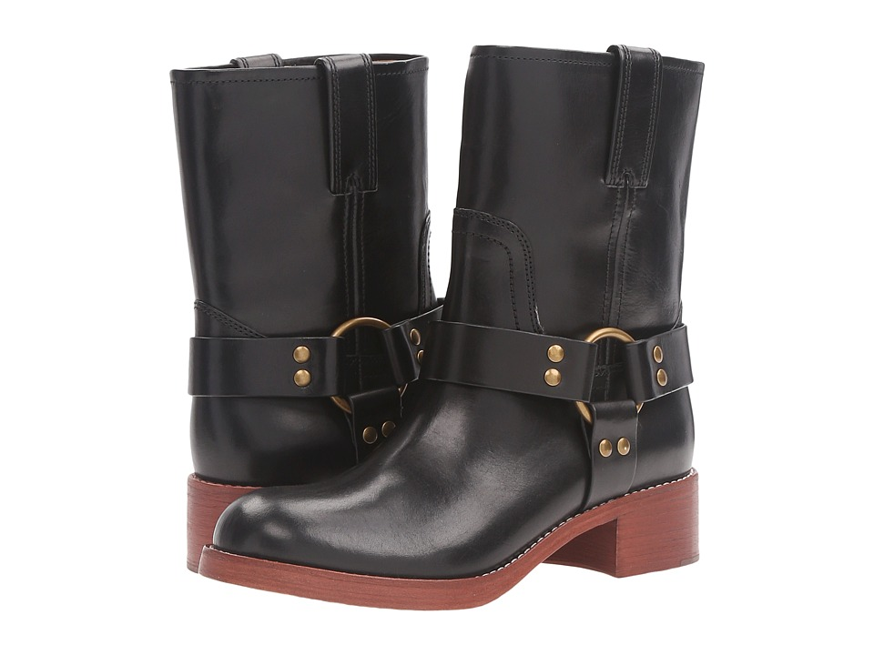 Marc Jacobs Campbell Moto Boot (Black) Women