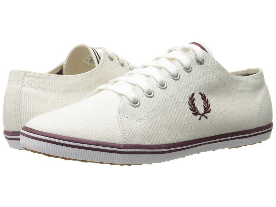 Fred Perry - Kingston Twill (Porcelain/Oxblood) Men's Lace up casual Shoes