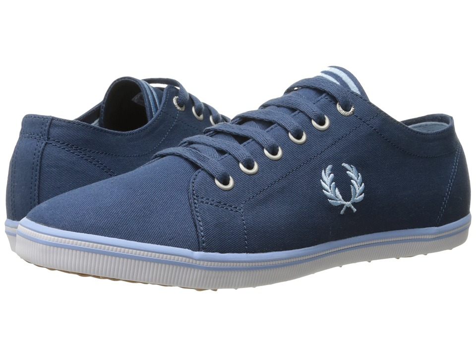 Fred Perry - Kingston Twill (Midnight Blue/Glacier) Men's Lace up casual Shoes