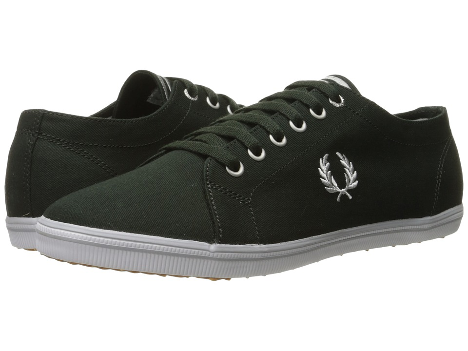 Fred Perry - Kingston Twill (British Racing Green/Dolphin) Men's Lace up casual Shoes