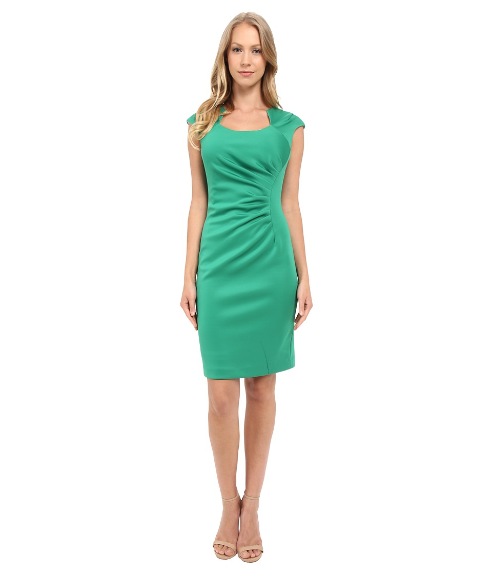 Calvin Klein - Horse Shoe Neck Dress (Grass) Women's Dress