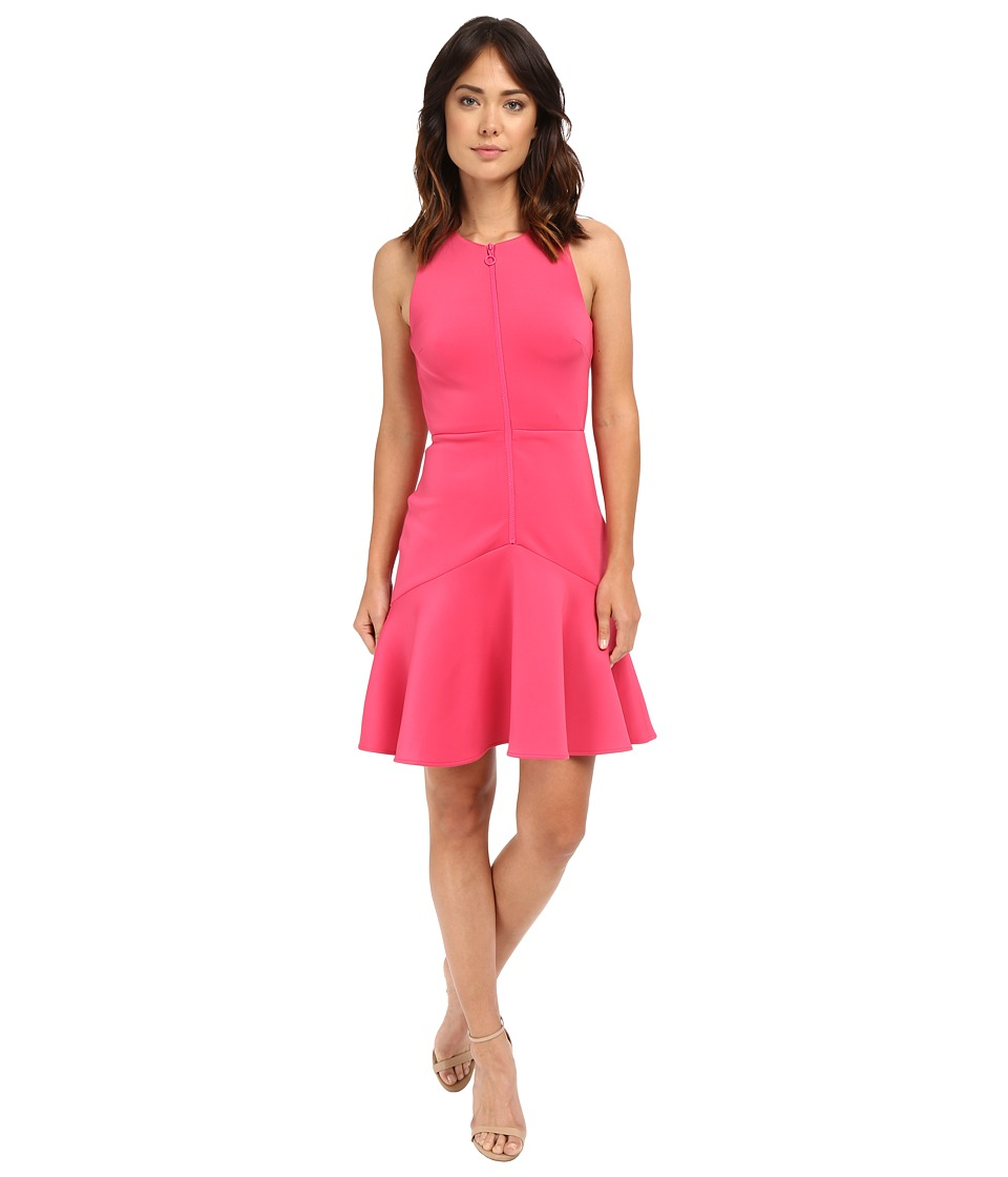 Calvin Klein - Sleeveless Zip Front Dress CD5M1B6B (Flamingo) Women's Dress