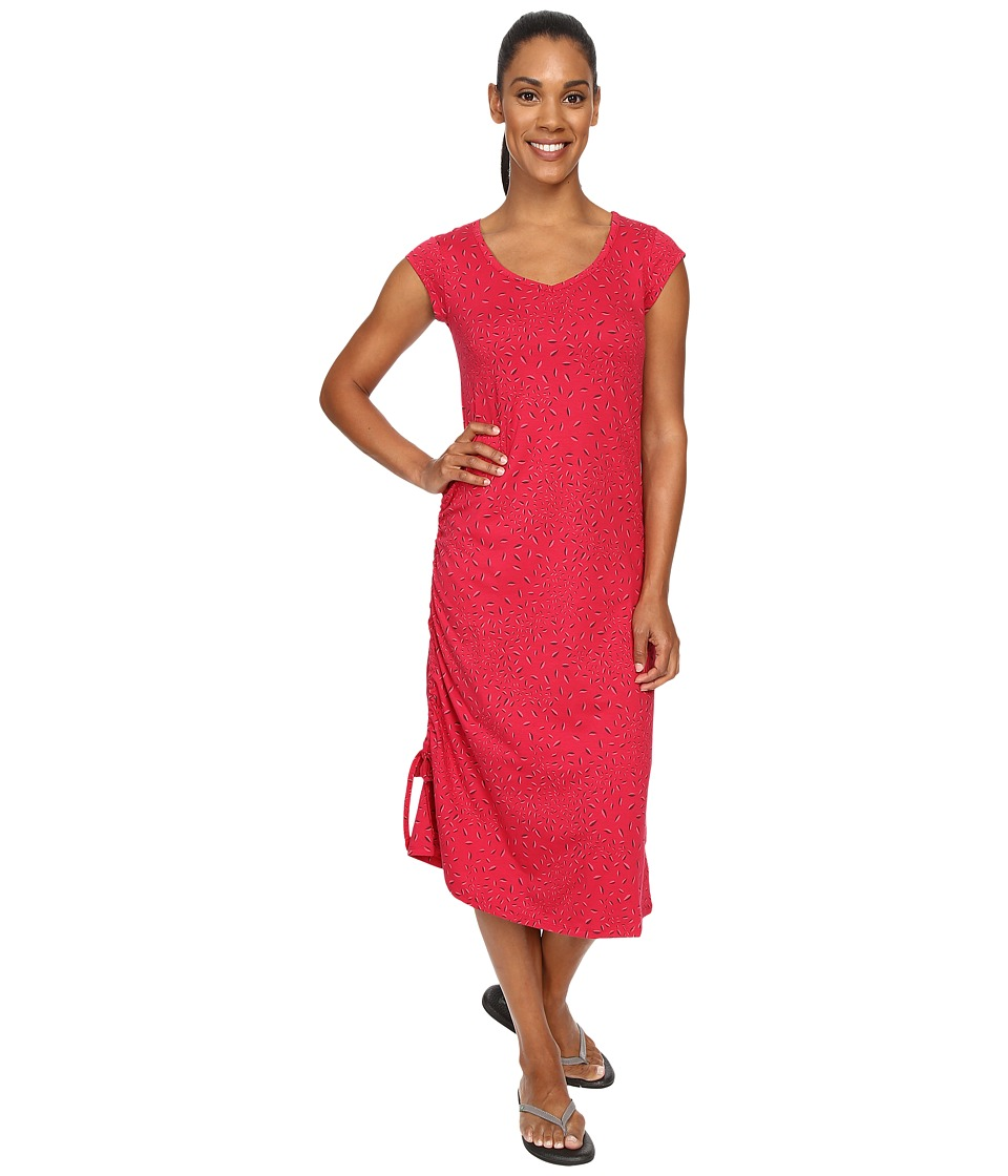 Toad&Co - Muse Dress (Cerise Leaf Print) Women's Dress