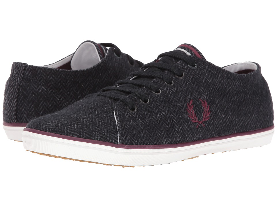 Fred Perry - Kingston Tweed (Charcoal/Oxblood) Men's Shoes