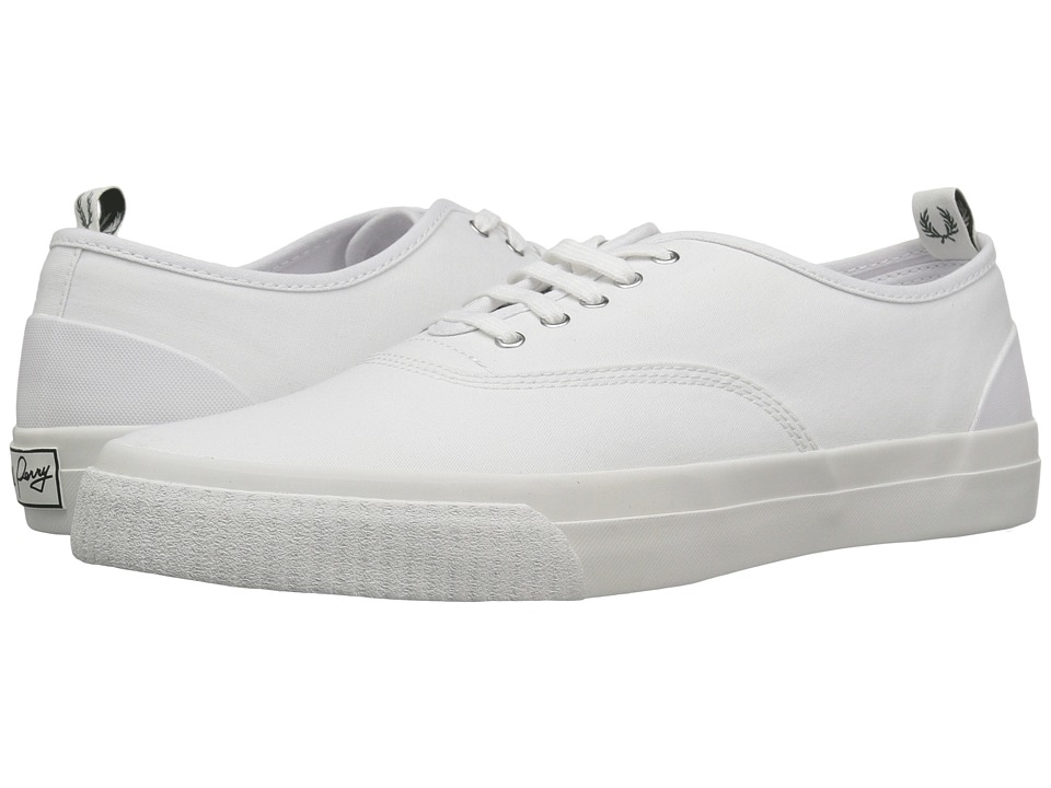 Fred Perry - Barson Canvas (White/Snow White) Men's Shoes