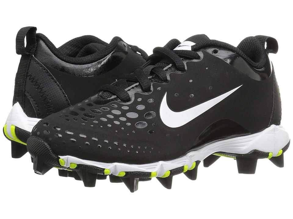 Nike Kids - Hyperdiamond 2 Keystone GG Baseball (Toddler/Little Kid/Big Kid) (Black/Black/White Multi Snake) Kids Shoes