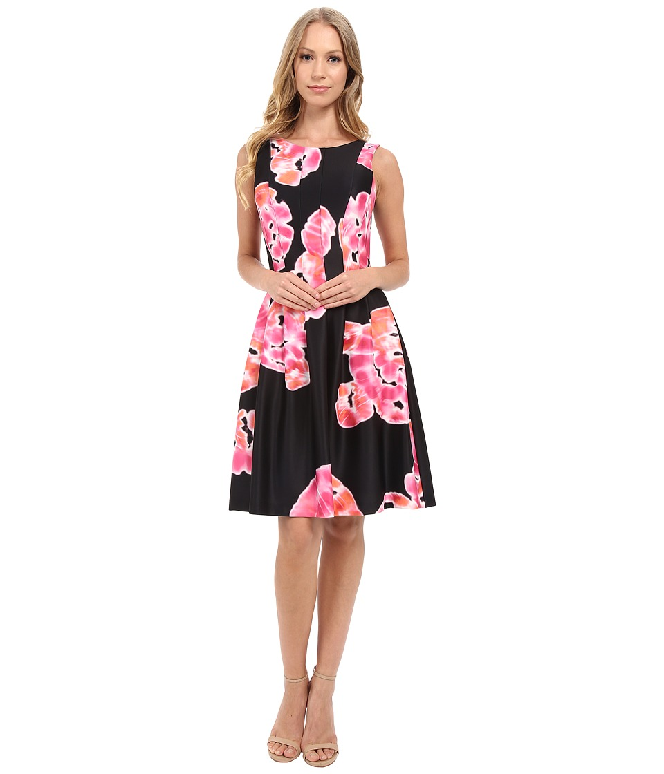 Calvin Klein - Sleeveless Printed Dress CD6MGA6U (Black/Hibiscus) Women's Dress
