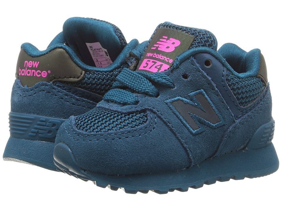New Balance Kids KL574v1 (Infant/Toddler) (Teal/Teal Urban Twilight) Girls Shoes