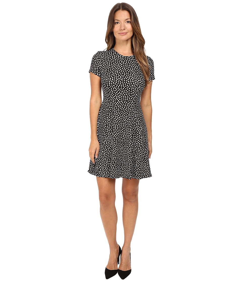 Kate Spade New York - Spot Ponte Dress (Black/Cream) Women's Dress