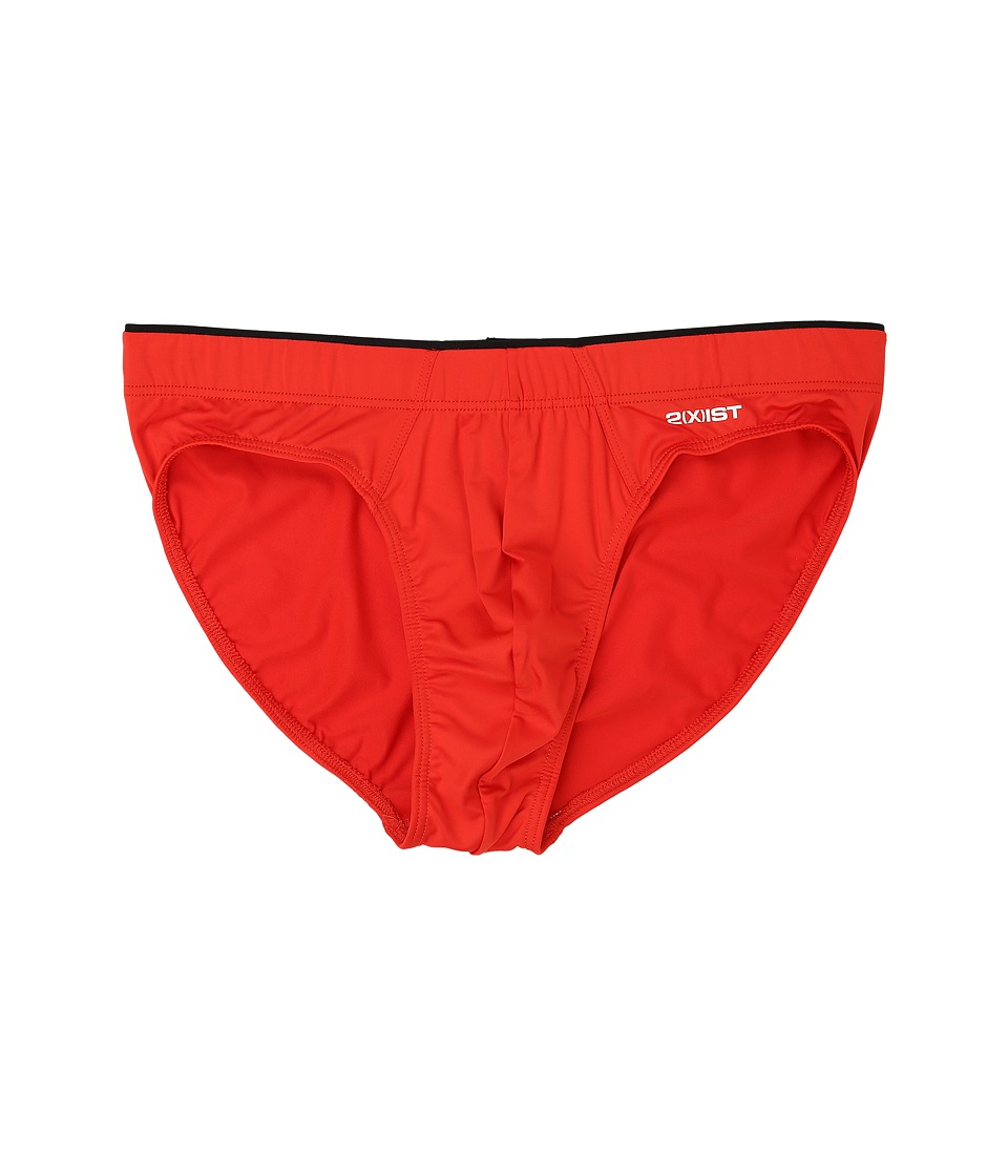 2(X)IST - Sliq Micro Sliq Brief (Flame Scarlet) Men's Underwear
