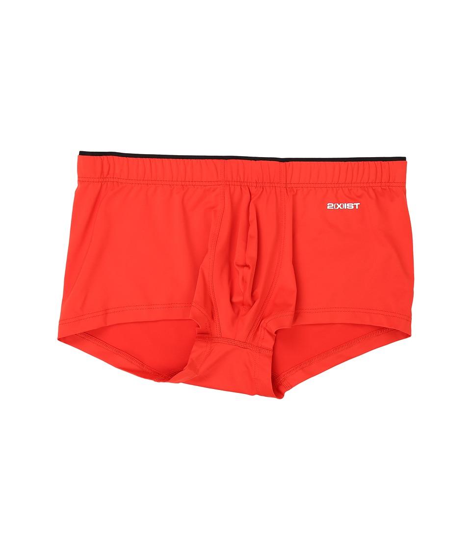 2(X)IST - Sliq Micro Sliq Trunk (Flame Scarlet) Men's Underwear
