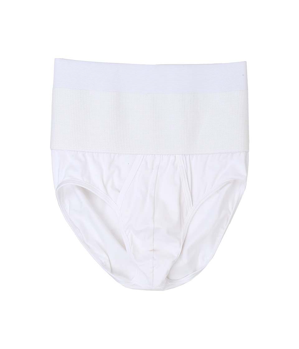 2(X)IST - Shapewear Form Contour Pouch Briefs (New White) Men's Underwear