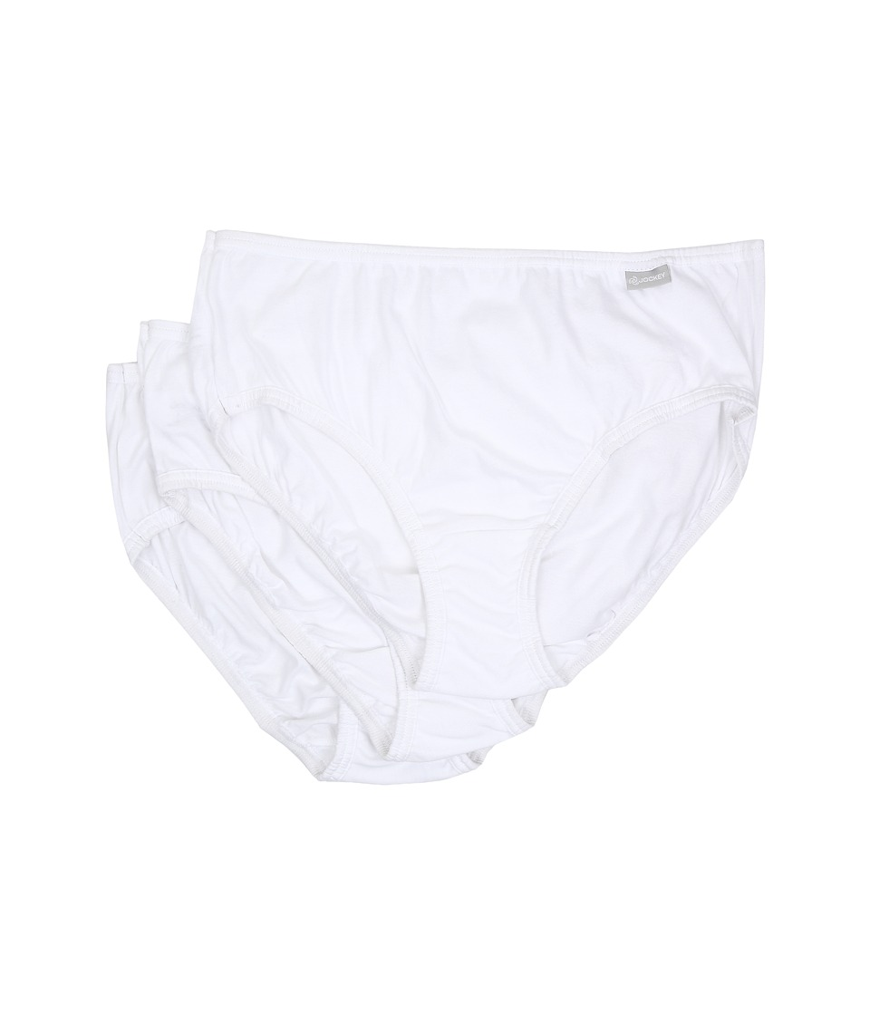 Jockey - Plus Size Elance Cotton Classic Fit Hipster (White) Women's Underwear