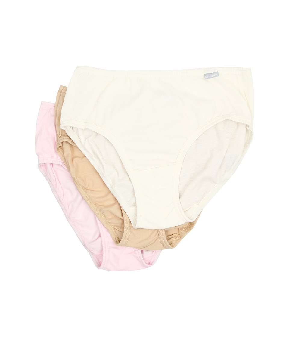 Jockey - Plus Size Elance Cotton Classic Fit Hipster (Ivory/Sand/Pink Pearl) Women's Underwear