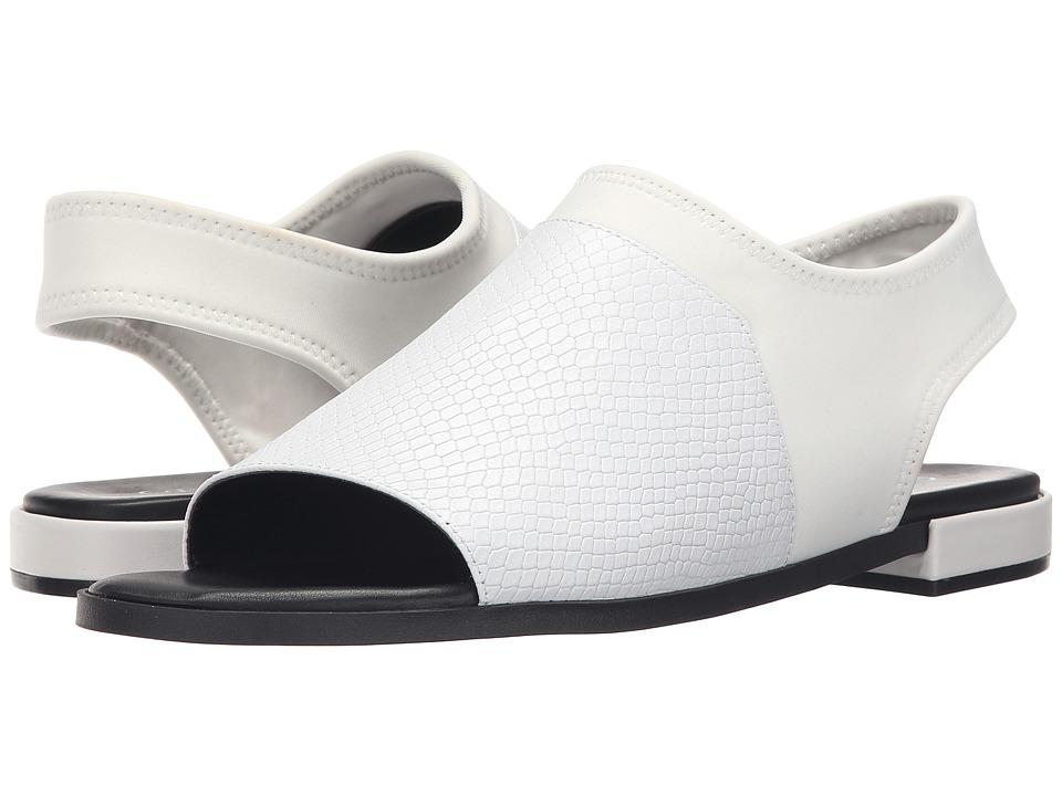 Calvin Klein - Adina (Platinum White Leather/Neoprene) Women