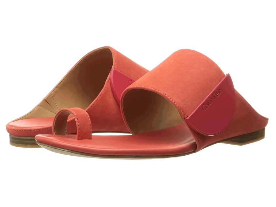 Calvin Klein - Babel (Deep Coral Nubuck) Women's Shoes