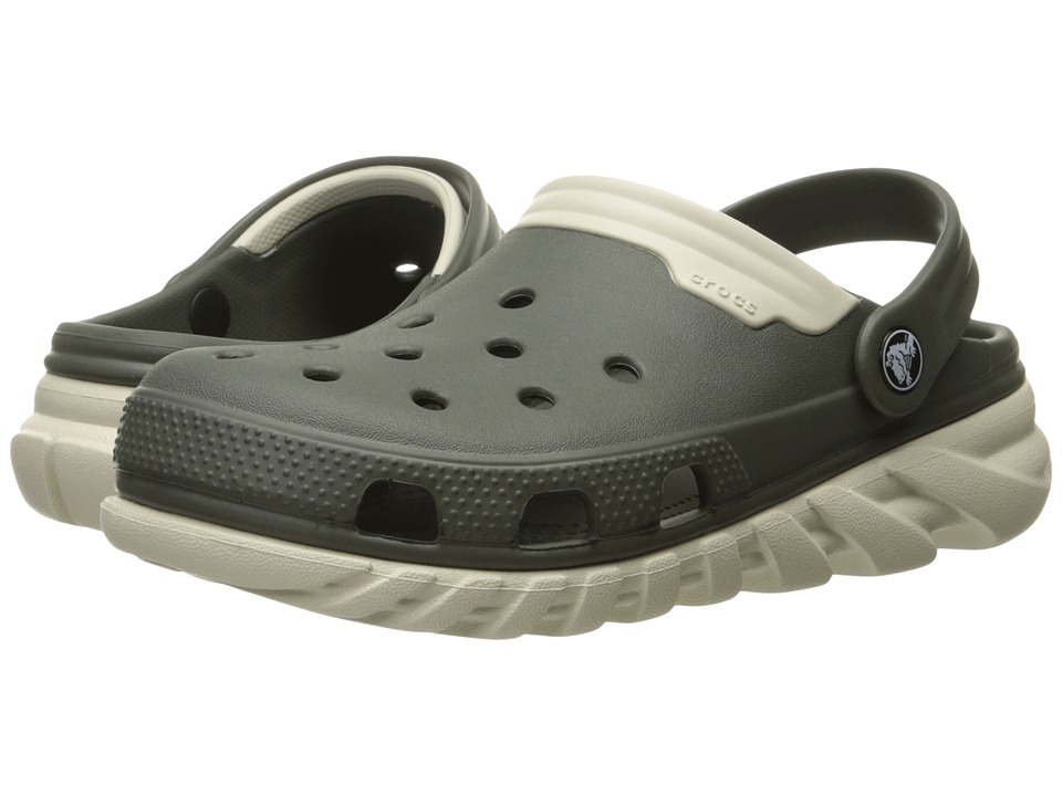 Crocs - Duet Max Clog (Dusty Olive/Stucco) Clog Shoes