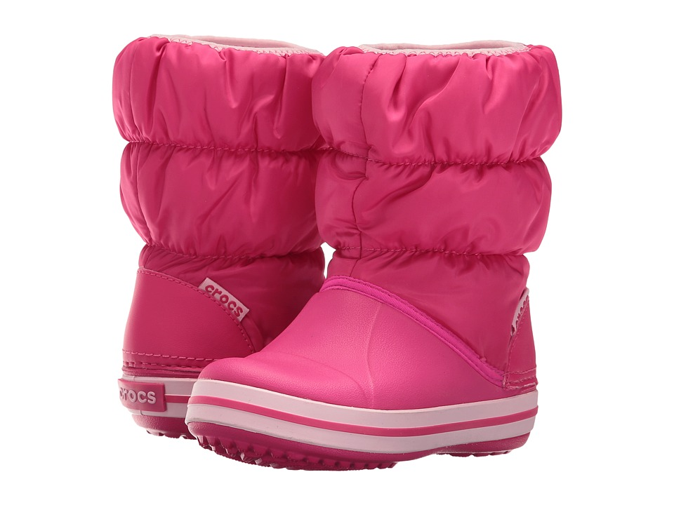 Crocs Kids - Winter Puff Boot (Toddler/Youth) (Candy Pink) Kids Shoes