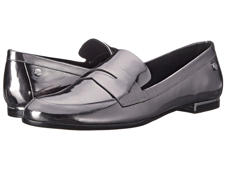 Calvin Klein - Celia (Steel Metallic Box/Leather) Women's Shoes