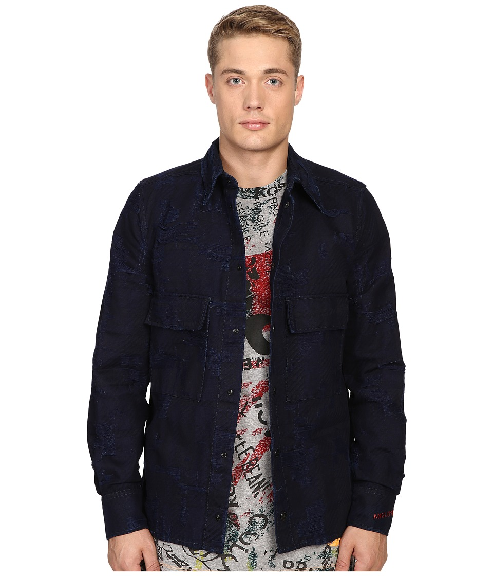 Vivienne Westwood - Anglomania Berry Worker's Shirt (Blue Denim) Men's Clothing