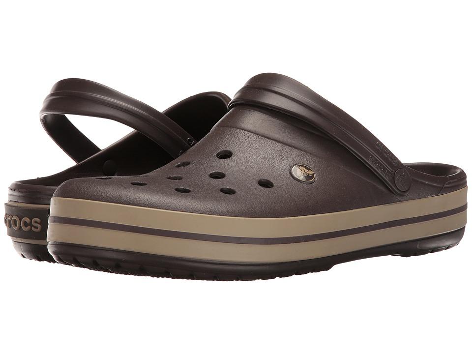 Crocs - Crocband (Espresso/Khaki) Clog Shoes