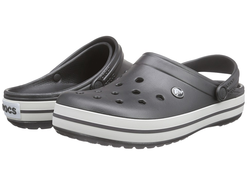 Crocs - Crocband (Graphite/White) Clog Shoes