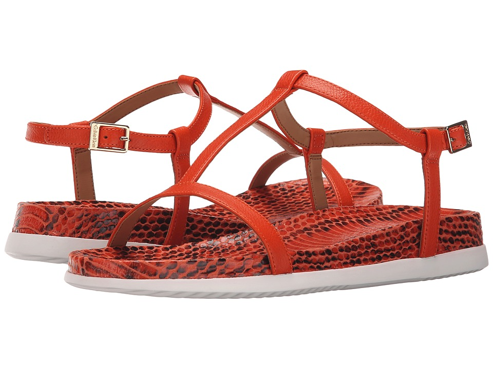 Calvin Klein - Doma (Orange Laquer Toscana Leather) Women's Shoes