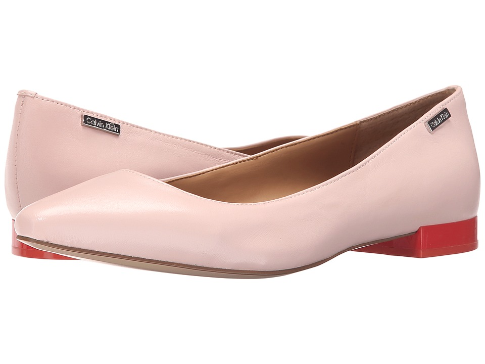Calvin Klein - Ellasandra (Dancer Pink Leather) Women's Dress Flat Shoes
