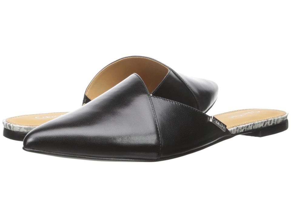 Calvin Klein - Garnett (Black/Soft White Leather) Women's Shoes