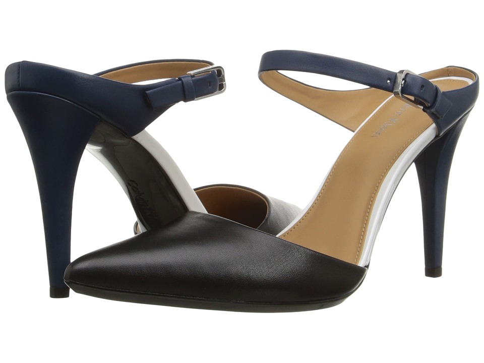 Calvin Klein - Ginnie (Black/Marine Leather/Patent) High Heels
