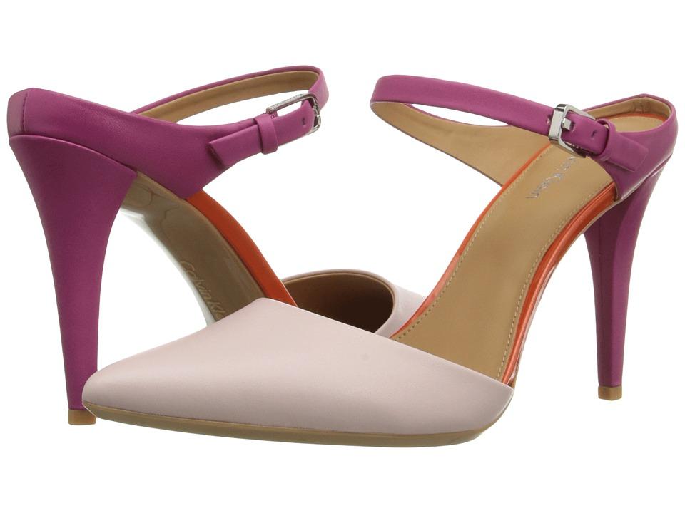Calvin Klein - Ginnie (Dancer Pink/Jazzberry Leather/Patent) High Heels