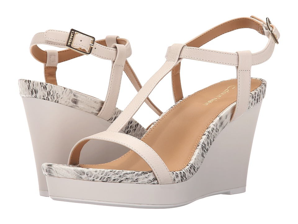 Calvin Klein - Jiselle (Soft White Toscana Leather) Women's Shoes