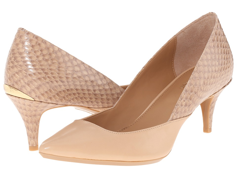 Calvin Klein - Patna (Sandstorm Leather/Snake Print Leather) Women's Shoes