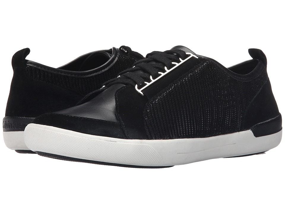 Calvin Klein - Tanita (Black Leather/Suede) Women's Shoes