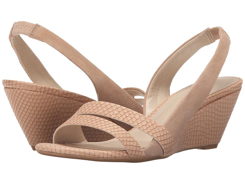 Calvin Klein - Tora (Nude Blush Matte Snake Print Leather) Women