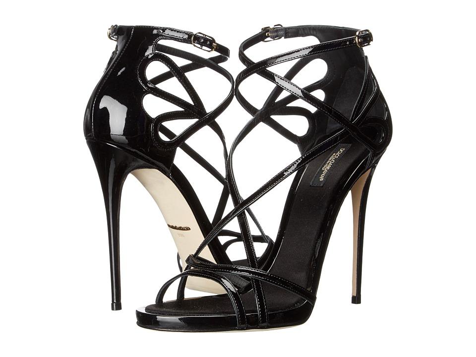 Dolce & Gabbana - Patent Sandal (Black) Women's Dress Sandals