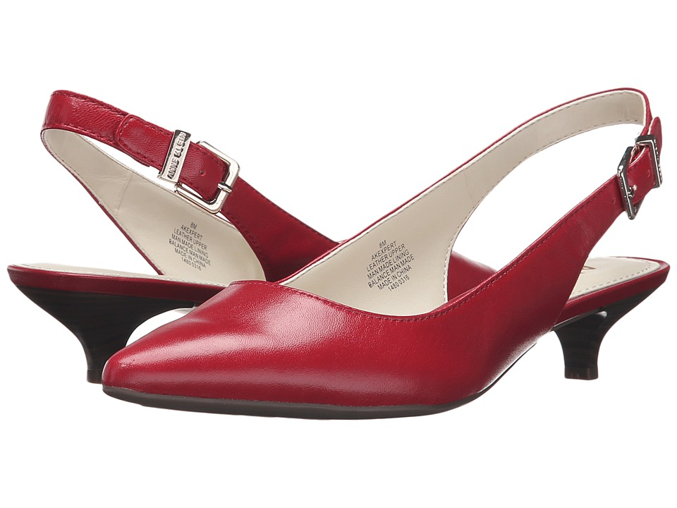 Anne Klein - Expert (Red Leather) Women's 1-2 inch heel Shoes