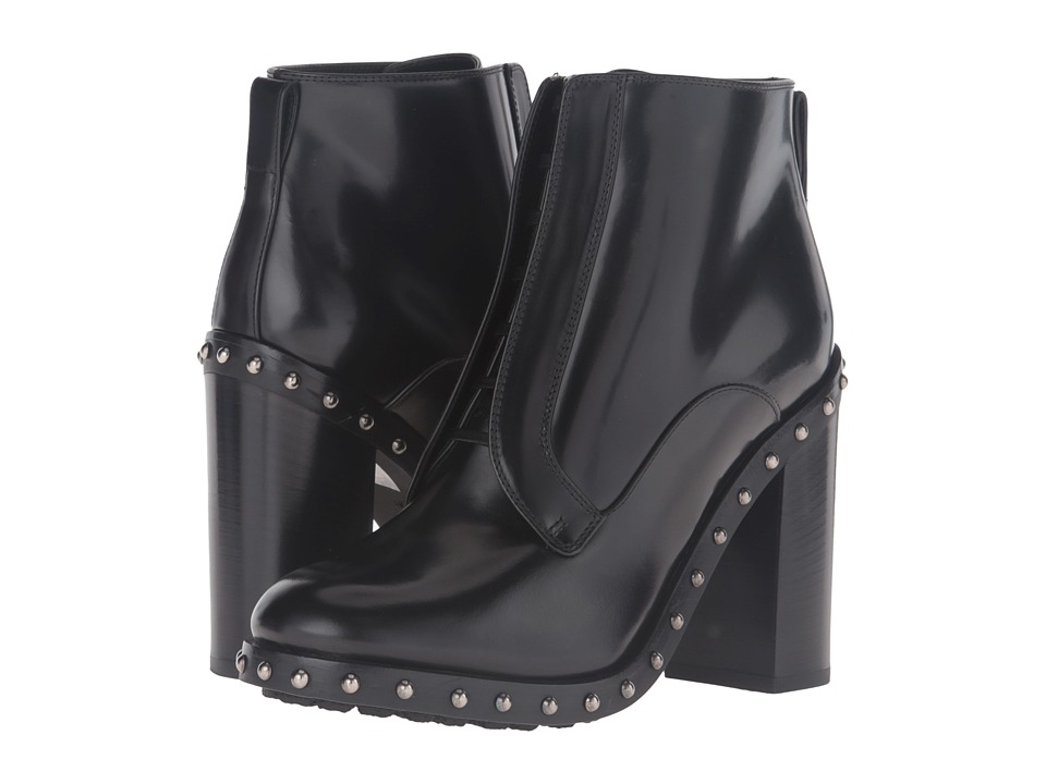 Dolce & Gabbana Studded Sole Ankle Boot (Black) Women