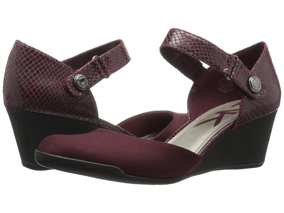 Anne Klein - Tasha (Wine/Wine Fabric) Women's Shoes