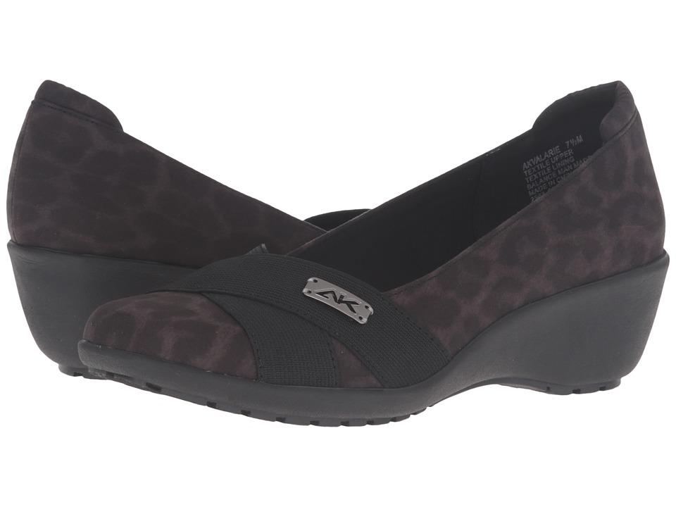 Anne Klein - Valarie (Dark Grey Multi/Black Fabric) Women's Shoes
