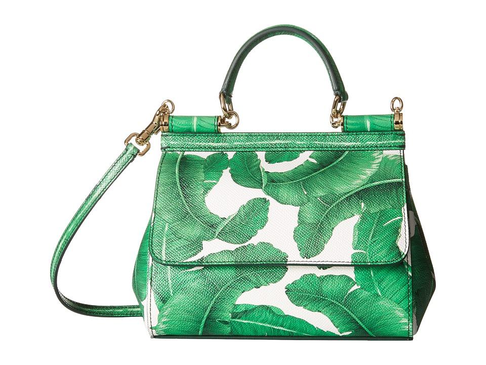 Dolce & Gabbana - Banana Leaf Print Sicily Bag (Foglie Banano) Bags