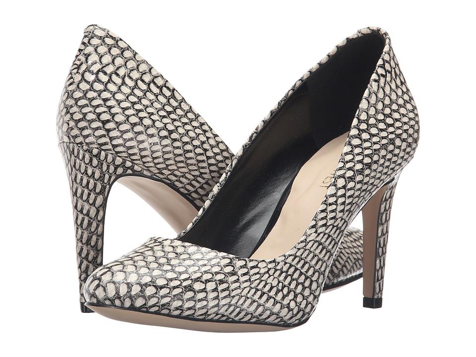 Nine West - Handjive (Black/White Leather) High Heels