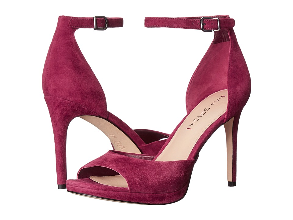 Via Spiga - Salina (Burgundy Kid Suede Leather) Women's Dress Sandals
